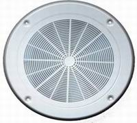 Plastic Round Ceiling Vent with Motorless Fan 200mm (White)