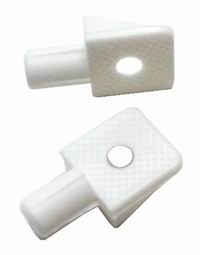 Shelf Supports 1 Piece 6mm Stem White (Polybag  24)