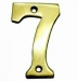 Numerals ''7' 50mm Lacquered Brass (Carded)