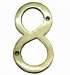Numerals ''8'' 100mm Lacquered Brass (Carded)