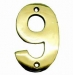 Numerals ''9'' 40mm Lacquered Brass (Carded)