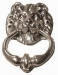 Door Knocker 'Lion' Silver finish (Carded)