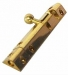 Pyramid Type Bolt 2.1/2'' Lacquered Brass (Carded)