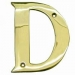 Numerals ''D'' 100mm Lacquered Brass (Carded)