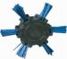 Nylon Roto Brush 100mm Medium Blue