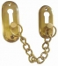 Door Safety Chain Lacquered Brass (Carded)