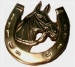 Door Knocker 'Horse Shoe' Lacquered Brass (Carded)