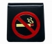 'NO SMOKING' Symbol Only Table Sign Red On Black (Hangsell)