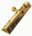 Pyramid Type Bolt 4'' Lacquered Brass (Carded)