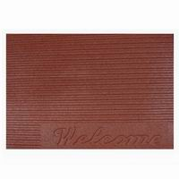 Welcome/Ribbed Mat - 685x460x10mm Red